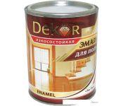 Эмаль Dekor для пола (светлый орех, 1.8 кг)