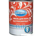 Эмаль Расцвет для пола быстросохнущая (кофе с молоком, 1.9 кг)