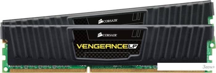 Оперативная память Corsair Vengeance Black 2x8GB KIT DDR3 PC3-12800 (CML16GX3M2A1600C9)