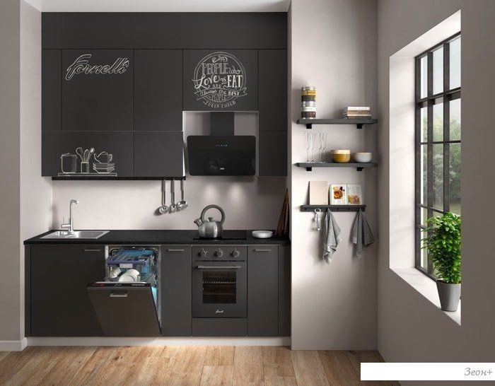 Кухонная вытяжка Krona Liora 600 S (черный)