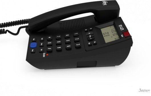 Проводной телефон Ritmix RT-471 (черный)