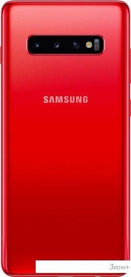 Смартфон Samsung Galaxy S10+ G975 8GB/128GB Dual SIM Exynos 9820 (гранат)