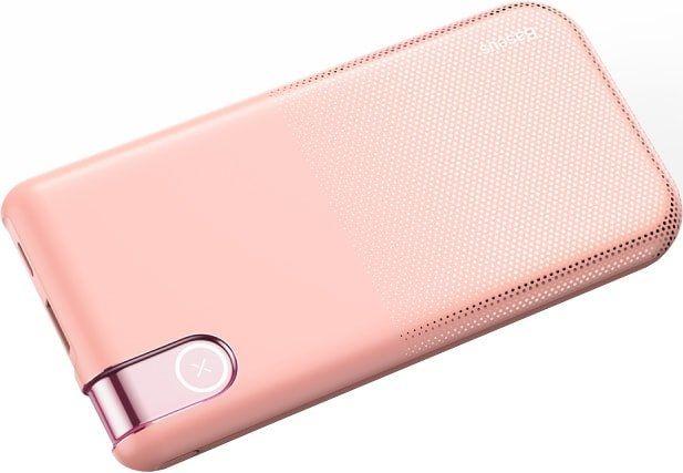 Портативное зарядное устройство Baseus Thin Version Wireless PPALL-QY04 10000mAh (розовый)