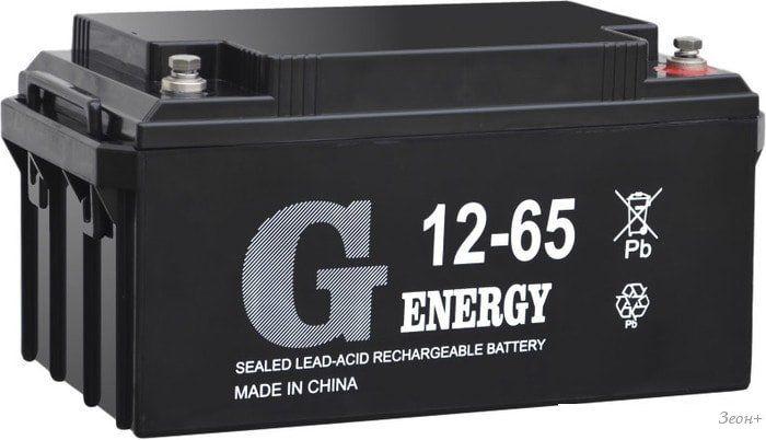 Аккумулятор для ИБП G-Energy 12-65 (12В/65 А·ч)