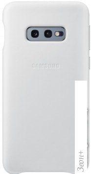 Чехол Samsung Leather Cover для Samsung Galaxy S10e (белый)