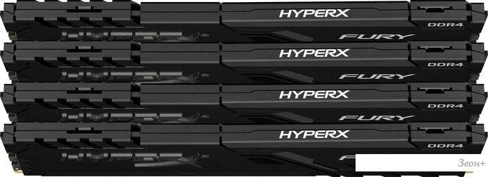 Оперативная память HyperX Fury 4x16GB DDR4 PC4-19200 HX424C15FB3K4/64