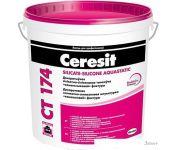 Выравнивающая штукатурка Ceresit CT 174 Фактура камешковая 1.5 мм (25 кг)