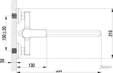Смеситель Lemark plus GRACE LM1551C