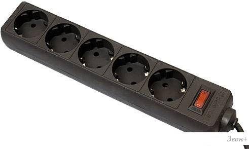 Сетевой фильтр Defender ES 5 розеток, черный, 5 м
