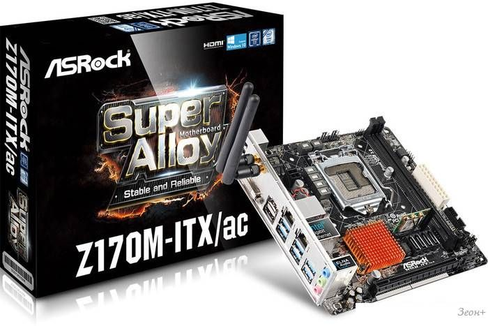 Материнская плата ASRock Z170M-ITX/ac