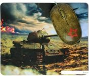 Мышь + коврик CBR Tank Battle