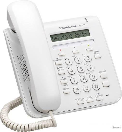 Проводной телефон Panasonic KX-NT511A White