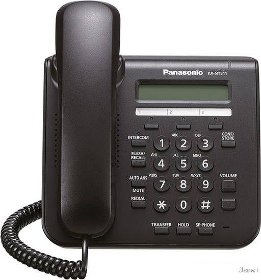 Проводной телефон Panasonic KX-NT511A Black