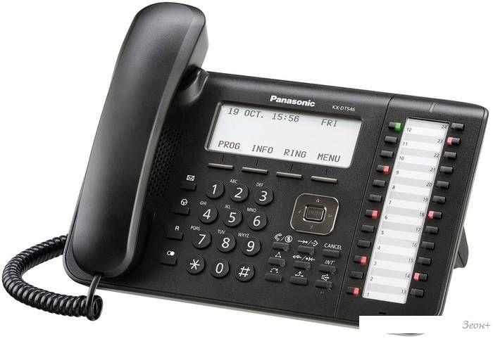 Проводной телефон Panasonic KX-DT546 Black