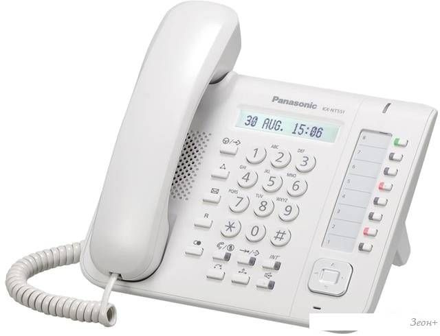 Проводной телефон Panasonic KX-NT551 White