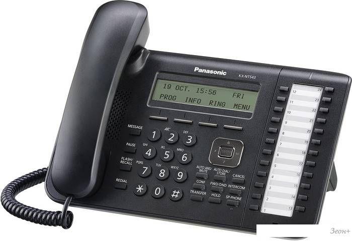 Проводной телефон Panasonic KX-NT543RU-B
