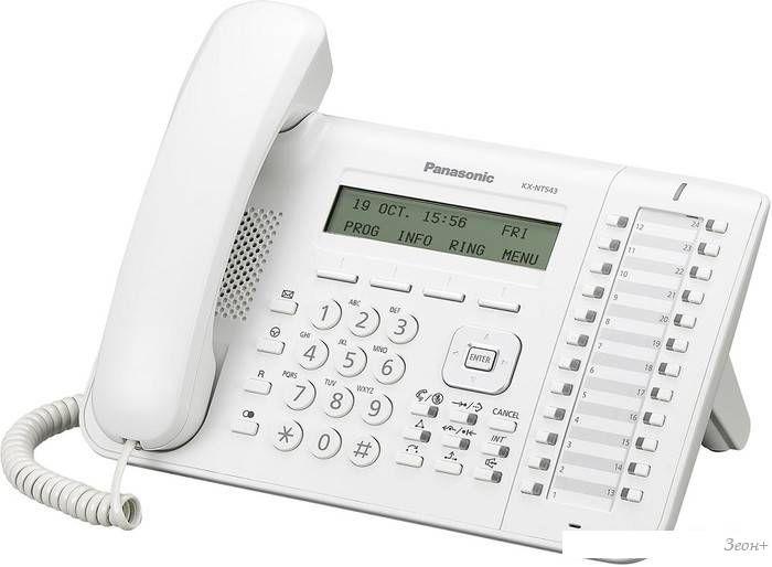Проводной телефон Panasonic KX-NT543RU-W