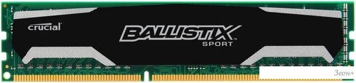 Оперативная память Crucial Ballistix Sport 2x4GB DDR3 PC3-12800 [BLS2C4G3D169DS1J]