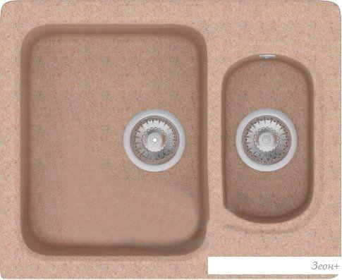 Кухонная мойка Polygran F-09 (песочный)