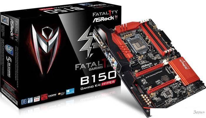 Материнская плата ASRock Fatal1ty B150 Gaming K4/Hyper