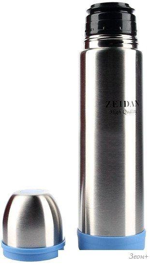 Термос ZEIDAN Z9036 (серебристый/синий)
