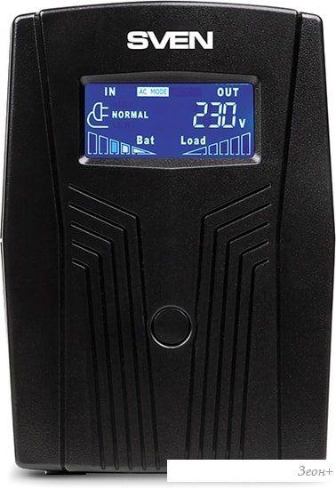 Источник бесперебойного питания SVEN Pro 650 (LCD, USB)