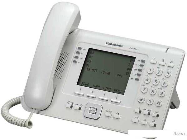 Проводной телефон Panasonic KX-NT560RU-W