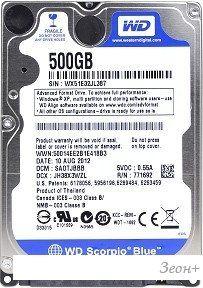 Жесткий диск WD Blue 500GB [WD5000BPVX]