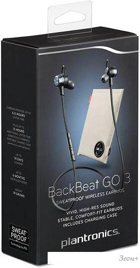 Bluetooth гарнитура Plantronics BackBeat GO 3 (черный)