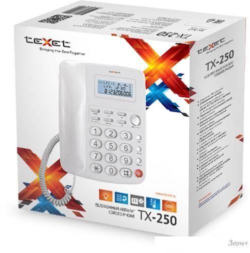Проводной телефон TeXet TX-250