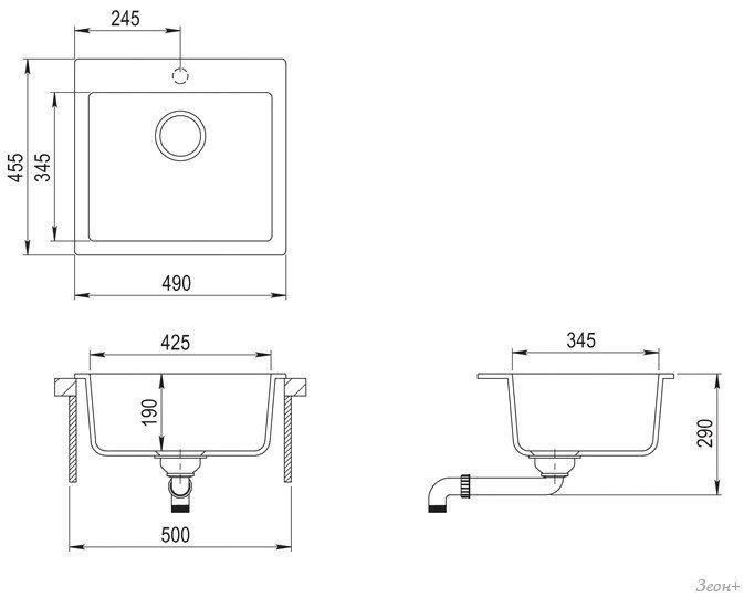 Кухонная мойка TEKA livo 50 S-TQ (топаз) [40148012]