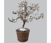 Дерево искусств. заснеженное в горшке, 28см