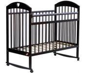 Классическая детская кроватка Bambini М 01.10.18 (темный орех)