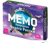 Настольная игра Бэмби Мемо - Природные чудеса России
