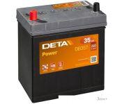 Автомобильный аккумулятор DETA Power DB357 (35 А·ч)