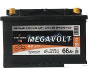 Автомобильный аккумулятор Megavolt 12V +L (66 А·ч)