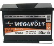 Автомобильный аккумулятор Megavolt 12V +L (55 А·ч)