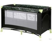 Манеж-кровать Lorelli Verona 2 Layers 2020 (black&green dots)