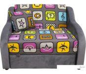 Кресло-кровать Аквилон Юниор 1-1 (фьюжн плэй/пони графит)