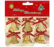 Елочная игрушка Серпантин Колокольчики 6 шт (золотистый) 422-134
