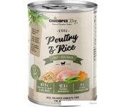 Консервированный корм для собак Chicopee Adult домашняя птица с рисом 400 г