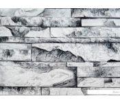 Декоративный камень Polinka Карпатский сланец 1400 М (белый мрамор)