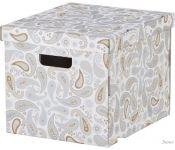 Коробка для хранения Ikea Смека (серый, с рисунком) 502.903.75