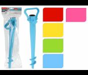 Подставка д/зонта пляжного с зажимом, пластик, 38 см, асс/5, арт. 170421110