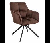 Кресло VIRGINIA, поворотное, велюр, шоколадный HCJ-10/черный