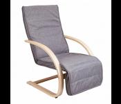 Кресло для отдыха GRAND, ткань, серый