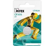 Элементы питания Mirex CR1616 Mirex литиевая блистер 1 шт. 23702-CR1616-E1