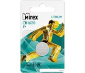 Элементы питания Mirex CR1620 Mirex литиевая блистер 1 шт. 23702-CR1620-E1