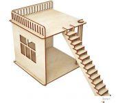 Кукольный домик ХэппиДом Пристройка и лестница для домика HK-M007