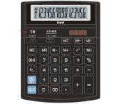 """Калькулятор настольный, 16 разрядов, двойное питание, большой дисплей, двойная память, переключатель количества знаков после запятой, функция """"Торговая наценка"""", цвет черный, размер: 204х158х47мм арт UG-608 Uniel"""